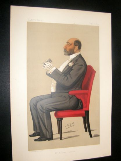 Vanity Fair Print 1890 Reuben David Sassoon, Banker | Albion Prints